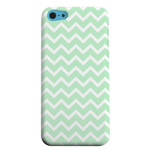 Geeks Designer Line (GDL) Apple iPhone 5C Matte Hard Back Cover - White on Mint
