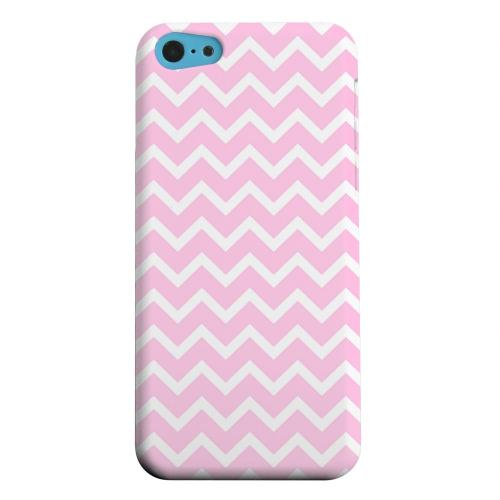 Geeks Designer Line (GDL) Apple iPhone 5C Matte Hard Back Cover - White on Pink