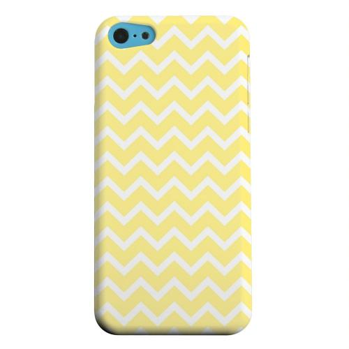 Geeks Designer Line (GDL) Apple iPhone 5C Matte Hard Back Cover - White on Yellow