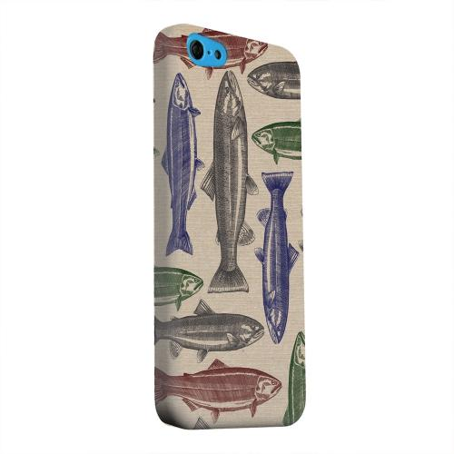Geeks Designer Line (GDL) Apple iPhone 5C Matte Hard Back Cover - Trout Print