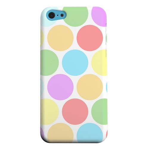 Geeks Designer Line (GDL) Apple iPhone 5C Matte Hard Back Cover - Big & Rainbow on White