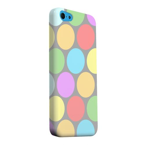 Geeks Designer Line (GDL) Apple iPhone 5C Matte Hard Back Cover - Big & Rainbow on Gray