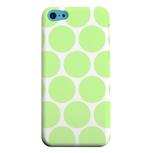 Geeks Designer Line (GDL) Apple iPhone 5C Matte Hard Back Cover - Big & Lime Green