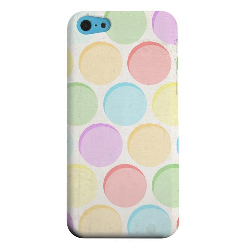Geeks Designer Line (GDL) Apple iPhone 5C Matte Hard Back Cover - Grungy & Rainbow