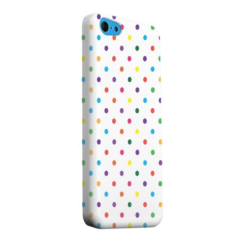 Geeks Designer Line (GDL) Apple iPhone 5C Matte Hard Back Cover - Small & Rainbow on White