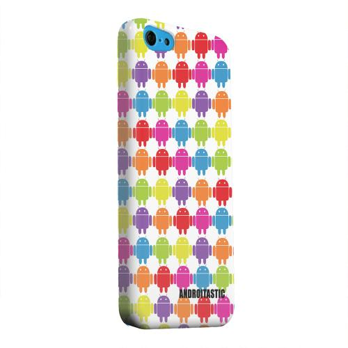Geeks Designer Line (GDL) Apple iPhone 5C Matte Hard Back Cover - Rainbow Robot Army Design