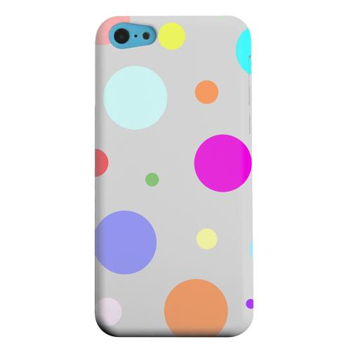 Geeks Designer Line (GDL) Apple iPhone 5C Matte Hard Back Cover - Random & Rainbow on Gray