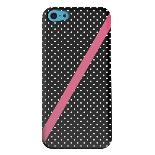 Geeks Designer Line (GDL) Apple iPhone 5C Matte Hard Back Cover - Pink Diagonal Stripe