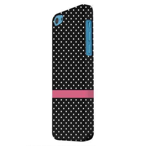 Geeks Designer Line (GDL) Apple iPhone 5C Matte Hard Back Cover - Pink Horizontal Stripe