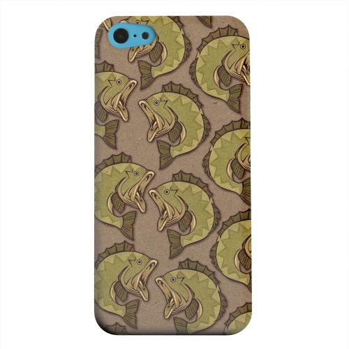 Geeks Designer Line (GDL) Apple iPhone 5C Matte Hard Back Cover - Large Mouth Bass Design