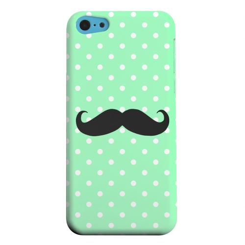 Geeks Designer Line (GDL) Apple iPhone 5C Matte Hard Back Cover - Stache on Mint