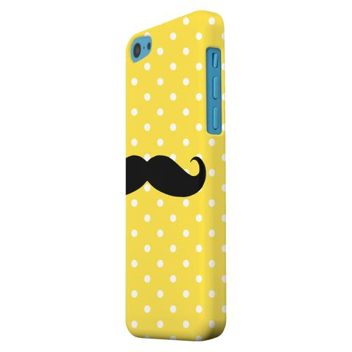 Geeks Designer Line (GDL) Apple iPhone 5C Matte Hard Back Cover - Stache on Yellow