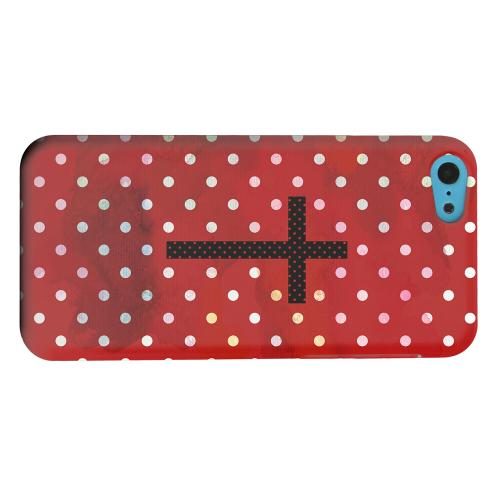 Geeks Designer Line (GDL) Apple iPhone 5C Matte Hard Back Cover - Stained Cross on Red