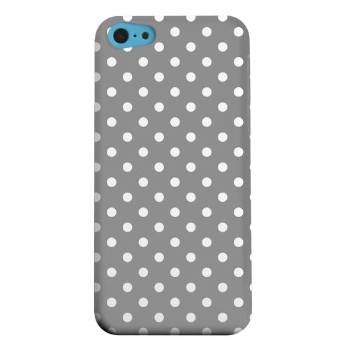 Geeks Designer Line (GDL) Apple iPhone 5C Matte Hard Back Cover - White Dots on Gray