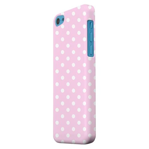 Geeks Designer Line (GDL) Apple iPhone 5C Matte Hard Back Cover - White Dots on Baby Pink