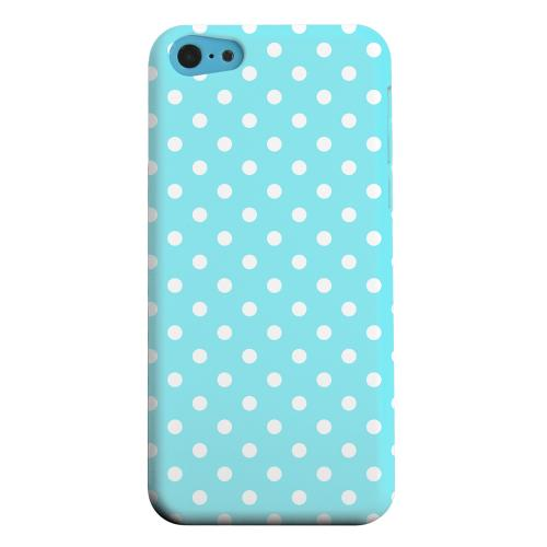 Geeks Designer Line (GDL) Apple iPhone 5C Matte Hard Back Cover - White Dots on Turquoise