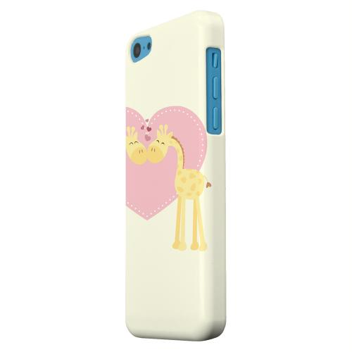 Geeks Designer Line (GDL) Apple iPhone 5C Matte Hard Back Cover - Giraffe Love on Light Yellow