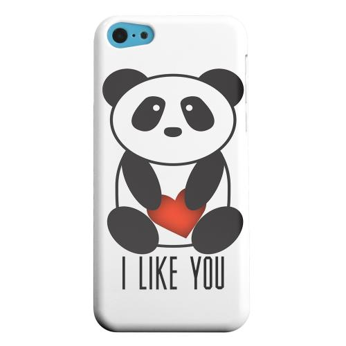 Geeks Designer Line (GDL) Apple iPhone 5C Matte Hard Back Cover - I Like You Panda