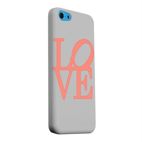 Geeks Designer Line (GDL) Apple iPhone 5C Matte Hard Back Cover - Pink Love on Gray