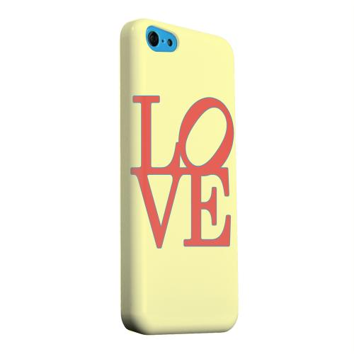Geeks Designer Line (GDL) Apple iPhone 5C Matte Hard Back Cover - Red Love on Yellow