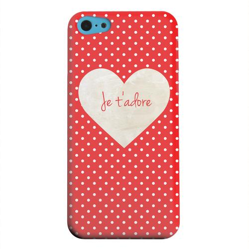 Geeks Designer Line (GDL) Apple iPhone 5C Matte Hard Back Cover - Je t'adore