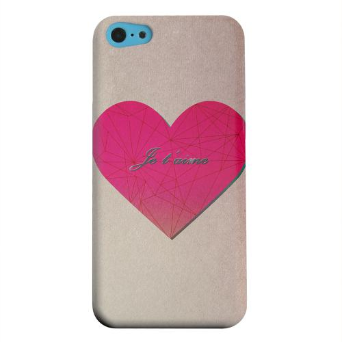 Geeks Designer Line (GDL) Apple iPhone 5C Matte Hard Back Cover - Je t'aime