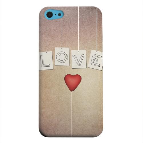 Geeks Designer Line (GDL) Apple iPhone 5C Matte Hard Back Cover - Love & Heart Balloon