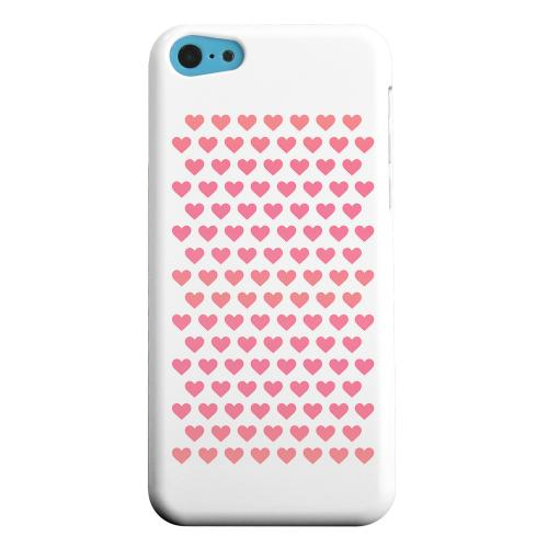 Geeks Designer Line (GDL) Apple iPhone 5C Matte Hard Back Cover - Miniature Hearts