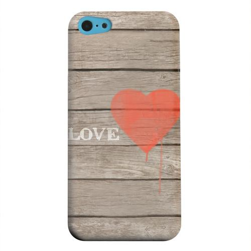 Geeks Designer Line (GDL) Apple iPhone 5C Matte Hard Back Cover - Rustic Love