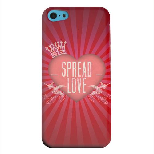 Geeks Designer Line (GDL) Apple iPhone 5C Matte Hard Back Cover - Spread Love