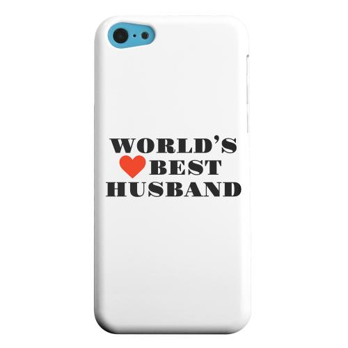 Geeks Designer Line (GDL) Apple iPhone 5C Matte Hard Back Cover - World's Best Husband