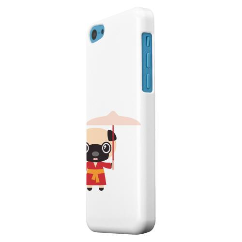 Geeks Designer Line (GDL) Apple iPhone 5C Matte Hard Back Cover - Dog on White