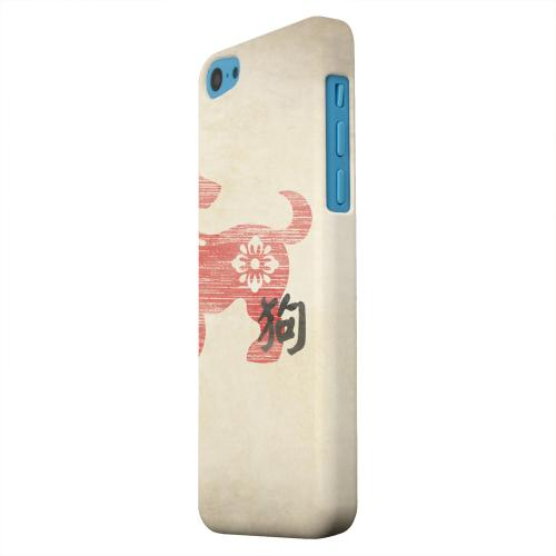 Geeks Designer Line (GDL) Apple iPhone 5C Matte Hard Back Cover - Grunge Dog