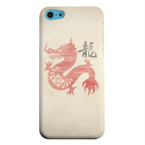 Geeks Designer Line (GDL) Apple iPhone 5C Matte Hard Back Cover - Grunge Dragon