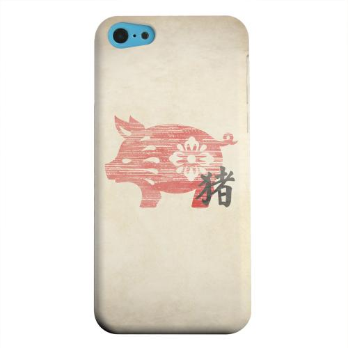 Geeks Designer Line (GDL) Apple iPhone 5C Matte Hard Back Cover - Grunge Pig