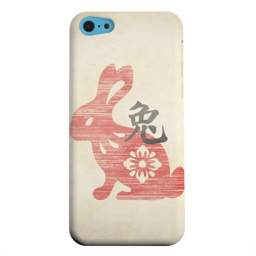 Geeks Designer Line (GDL) Apple iPhone 5C Matte Hard Back Cover - Grunge Rabbit