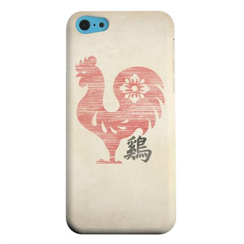Geeks Designer Line (GDL) Apple iPhone 5C Matte Hard Back Cover - Grunge Rooster