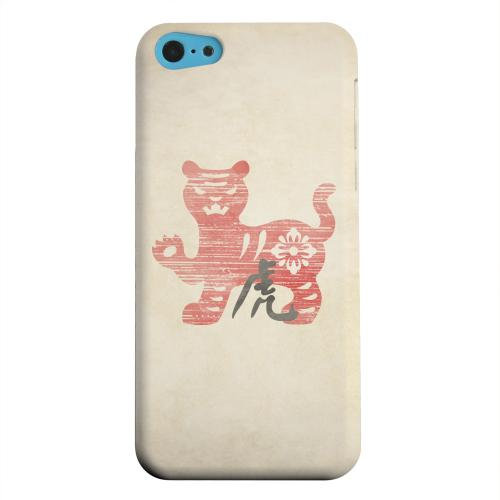 Geeks Designer Line (GDL) Apple iPhone 5C Matte Hard Back Cover - Grunge Tiger