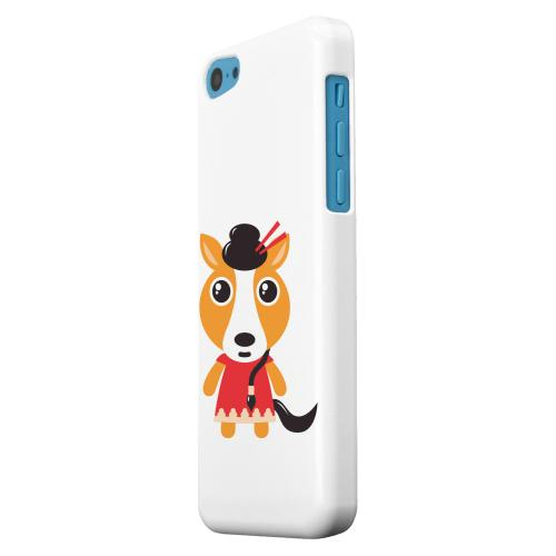 Geeks Designer Line (GDL) Apple iPhone 5C Matte Hard Back Cover - Horse on White