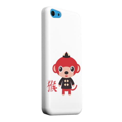Geeks Designer Line (GDL) Apple iPhone 5C Matte Hard Back Cover - Monkey on White