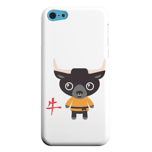 Geeks Designer Line (GDL) Apple iPhone 5C Matte Hard Back Cover - Ox on White