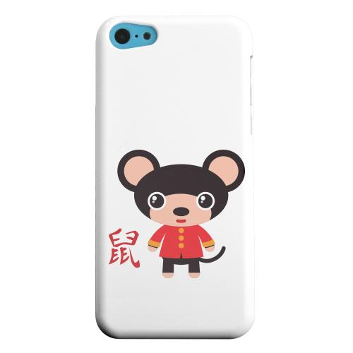Geeks Designer Line (GDL) Apple iPhone 5C Matte Hard Back Cover - Rat on White