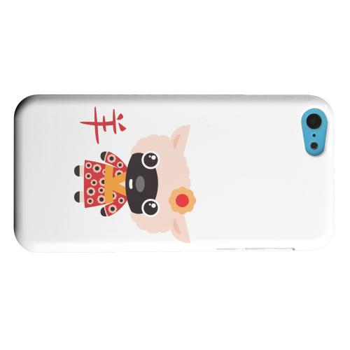 Geeks Designer Line (GDL) Apple iPhone 5C Matte Hard Back Cover - Sheep on White
