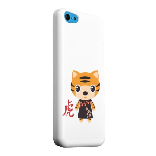 Geeks Designer Line (GDL) Apple iPhone 5C Matte Hard Back Cover - Tiger on White