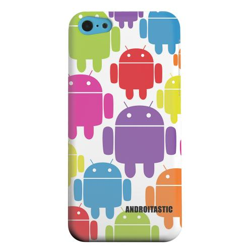 Geeks Designer Line (GDL) Apple iPhone 5C Matte Hard Back Cover - Rainbow Robot Design