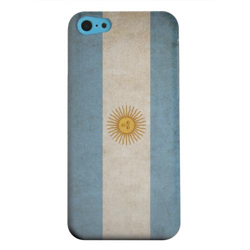 Geeks Designer Line (GDL) Apple iPhone 5C Matte Hard Back Cover - Grunge Argentina