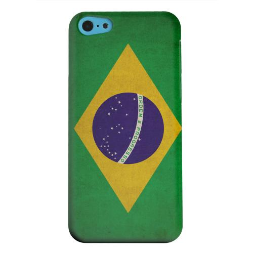Geeks Designer Line (GDL) Apple iPhone 5C Matte Hard Back Cover - Grunge Brazil