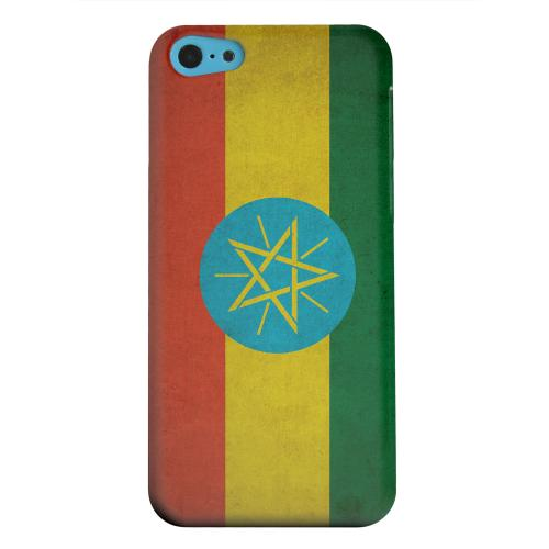 Geeks Designer Line (GDL) Apple iPhone 5C Matte Hard Back Cover - Grunge Ethiopia