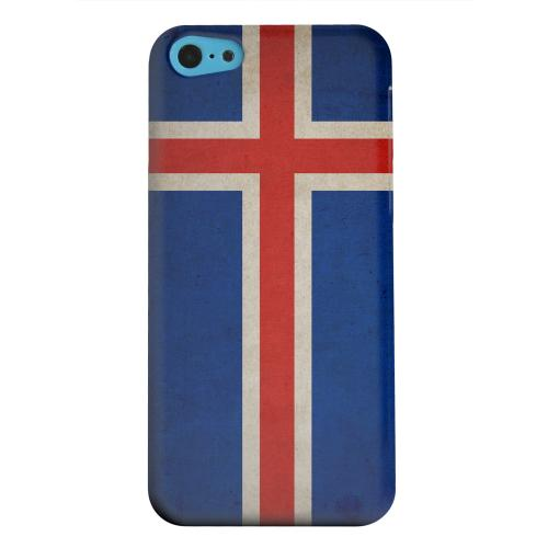 Geeks Designer Line (GDL) Apple iPhone 5C Matte Hard Back Cover - Grunge Iceland