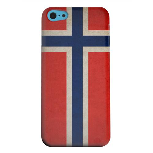 Geeks Designer Line (GDL) Apple iPhone 5C Matte Hard Back Cover - Grunge Norway